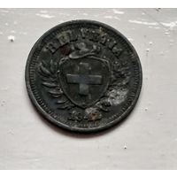 Швейцария 1 раппен, 1942  2-12-9