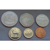 Маврикий 2001-2009, 6 монет