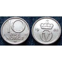 W: Норвегия 10 эре 1988 (625)