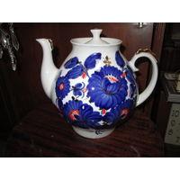Чайник,заварник большой,ручная роспись.