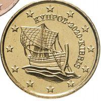 10 евроцентов 2020 Кипр UNC из ролла