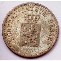 РАСПРОДАЖА!!! - ГЕРМАНИЯ ГЕССЕН-КАССЕЛЬ 1 грош 1861 год  (серебро)