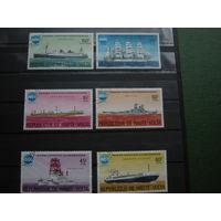 Транспорт, корабли флот марки парусники военная техника Буркина-Фасо 1975