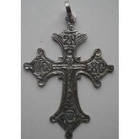 Старинный нательный крест. Серебро 84