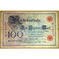 100 марок 1898г -редкая-