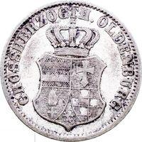 РАСПРОДАЖА!!! - ГЕРМАНИЯ ОЛЬДЕНБУРГ 2 1/2 гроша 1858 год (серебро,билон)