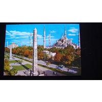 Почтовая карточка  подписанная (ISTAMBUL - TURKIYE).  распродажа