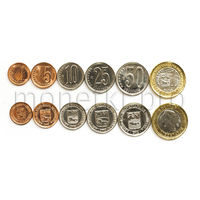 Венесуэла 6 монет 2009-2012 года.