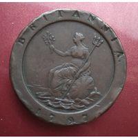 "Великобритания 2 пенни 1797. "" Колесо телеги""."