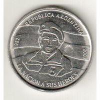 Аргентина 2 песо 2007 25 лет оккупации Фолклендских островов