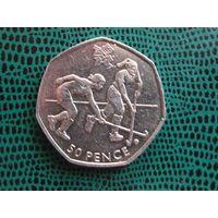 50 пенсов, Великобритания, 2011, Хоккей на траве