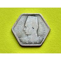 Египет. 2 пиастра 1944. Серебро.