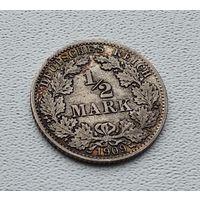 "Германия 1/2 марки, 1909 ""A"" - Берлин 7-10-22"