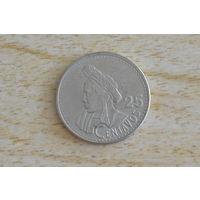 Гватемала 25 сентаво 1998