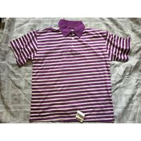 Майка футболка СССР 46-48 1995г с воротничком на пуговичках Новая