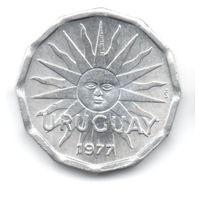 ВОСТОЧНАЯ  РЕСПУБЛИКА УРУГВАЙ    2 ЦЕНТЕЗИМО 1977. СОЛНЦЕ