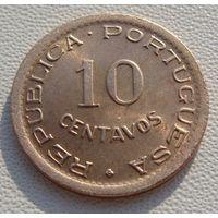 "Ангола. ""Португальская"" 10 сентаво 1949 год KM#70"