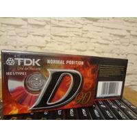 Кассеты новые TDK D-90