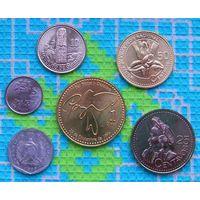 Гватемала 1, 5, 10, 25, 50 центавос, 1 Кетсаль. UNC. Инвестируй в монеты планеты!
