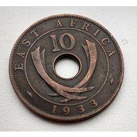 Британская Восточная Африка 10 центов, 1933 3-1-1