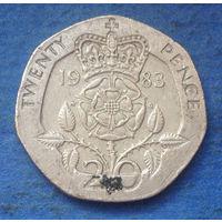 Великобритания 20 пенсов 1983