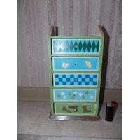 Домик-шкаф для кукол, дерево