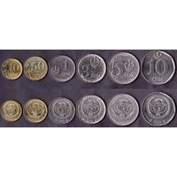6 монет Киргизия 10, 50 тыйин, 1, 3, 5, 10 сомов