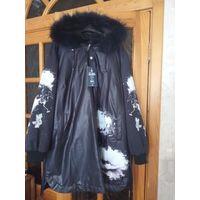 Крутая женская куртка на 58-60 размер. Зима. Новая. Очень красивый цвет, баклажан. Не подошла мне по размеру, покупала второпях. Качественная Турция, теплая и очень легкая, синтепон.