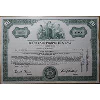 Акция сертификат компании Food fair properties, inc 1959 г.