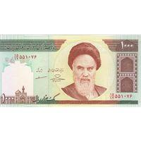 Иран 1000  риалов образца 1992-2014 года UNC p143g