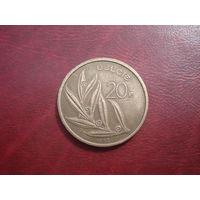 20 франков 1980 Ё года Бельгия
