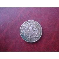 2 цента 1974 год Новая Зеландия