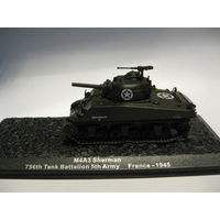 M4 A3 Sherman 756th Tank Battalion 5th Army France - 1945.