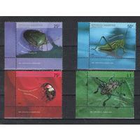 Аргентина Насекомые 2002 год чистая полная серия из 4-х марок