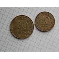 Лот #76: Франция: 10 сантимов 1963, 20 сантимов 1963