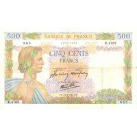 Франция, 500 франков, 1942 г. Не частые!