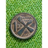 Катанга 1 франк 1961 г