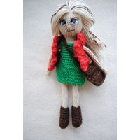 Кукла вязаная 18 см