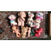 Игрушки СССР, мишка олимпийский, индеец, пупсы, котик, собачки, обезьяна, лошадка. одним лотом