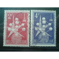 Бельгия 1957 Выставка в Брюсселе (1958 г.) Полная серия Структура атома-эмблема выставки
