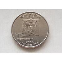 25 центов США 2008 г. штат Нью-Мексико  Р