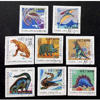 Вьетнам 1979 г. Динозавры. Фауна, полная серия из 8 марок #0260-Ф1P58