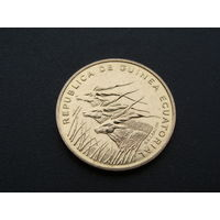 """Экваториальная Гвинея. 5 франков 1985 год  """"Фауна"""" """"Антилопа""""  КМ#62 Редкая!!!"""