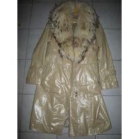 Кожаное пальто зима все натур