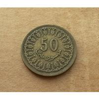 Тунис, 50 миллим 1960 г.