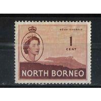 GB Колонии Северное Борнео 1954 EII Кинабалу Стандарт #294*