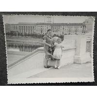 Минск. На мосту через Свислочь. Фото 1960-х. 8.5х11 см.
