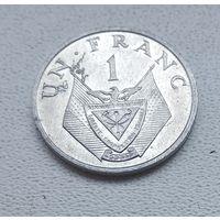 Руанда 1 франк, 1974 7-1-29