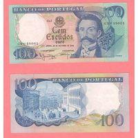 Банкнота Португалия 100 эскудо 1965 XF+ Камило Бранко 48061