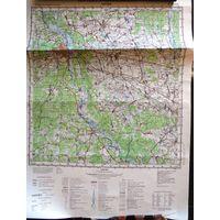 БОБРУЙСК, карта 40х53 см.